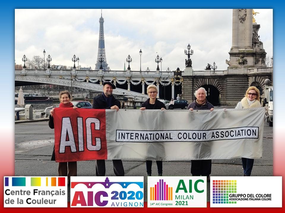 transmission virtuelle de la banderole AIC au Gruppo del Colore